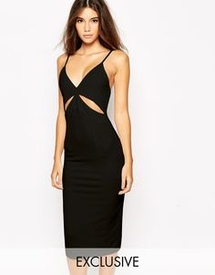 Image 1 ofNaaNaa Midi Bodycon Dress With Cut Out And Low Back