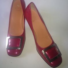 Red Leather Patent Buckle Heels Red Leather Patent Buckle Heels Shoes Heels