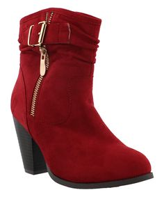 Red Roselyn Bootie