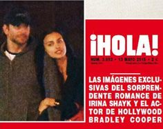 Fotos comprovam romance entre Irina Shayk e Bradley Cooper