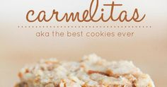 Carmelitas! The best cookie you will ever make. Each bite is an delicious balance of gooey caramel, chocolate chips, and crunchy and sweet cookie!