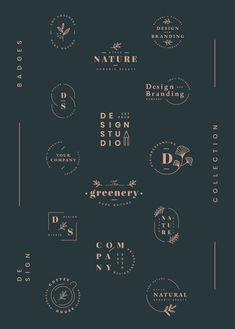 Floral brands and logo designs vector collection Design Art Design Graphics Design Videos Web Design, Vector Design, Design Set, Luxury Logo Design, Speisenkarten Designs, Typographie Logo, Inspiration Logo Design, Design Ideas, Coffee Logo