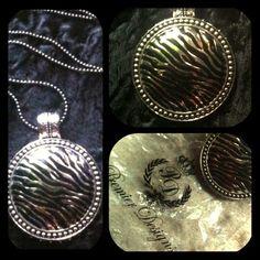 Safari necklace magnetic  by Premier Designs NWT Safari magnetic enclosure necklace/pendant fascinator  zebra silver and black enamel.New in Premier designs bag nwt Premier Designs Jewelry Necklaces