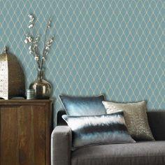 Papier peint intissé Bercy bleu | Leroy Merlin