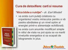 "#Cura_de_detoxifiere: carti recomandate. ""Mica biblie a nutritiei."" ~ dr. Earl Mindell. Bible, Biochemistry"