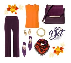 """Fall colors"" by yehuda-eti on Polyvore featuring Lizzie Fortunato, Paul Andrew, Victoria, Victoria Beckham, Joseph, BERRICLE, Palm Beach Jewelry and Halston Heritage"