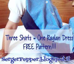 FREE pattern: Three Polo Shirts = One Raglan Dress!