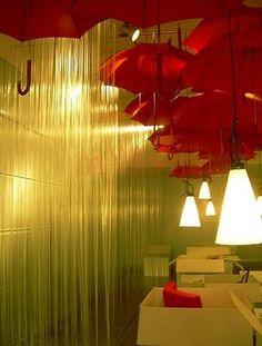 """Rain"" Umbrella Art Installation:"