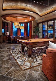 Man cave design, pictures, remodel, decor and ideas - page tina mejia · entertainment room ideas Man Cave Designs, Ceiling Texture Types, Game Room Decor, Game Rooms, Play Rooms, Contemporary Family Rooms, Interior Design Elements, Architectural Elements, Diy Home