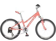 Sport Kids: MT 60 Girls. Trek Kids' mountain bikes are the real deal, with light frames, knobby tires, quality parts, durable construction, and Dialed adjustable components that can grow with young riders.