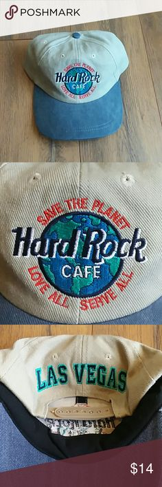 Vintage Hard Rock Cafe Embroidered Strapback One Size Fits All Excellent Condition Vintage Accessories Hats