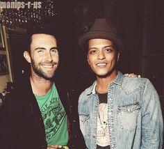 Adam Levine and Bruno Mars  @Ashley Meredith