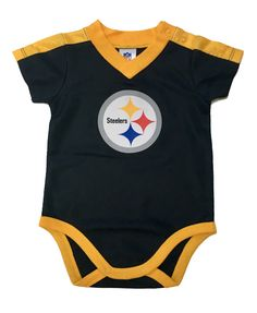 867621e89aa $15.99--Official NFL Licensed Steelers Baby Player Jersey Onesie has silky  waffle jersey fabric