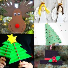 50+ Christmas arts and crafts ideas for kids. Great Christmas crafts for kids, Christmas craft projects and Christmas art project for kids.