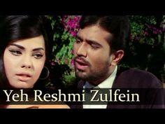 Yeh Reshmi Zulfein - Rajesh Khanna - Mumtaz - Do Raaste - Bollywood Clas. Old Hindi Movie Songs, Song Hindi, Hit Songs, Love Songs, Lata Mangeshkar Songs, Old Bollywood Songs, Old Song Download, Evergreen Songs, Romantic Love Song
