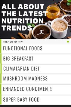 Here are a sports dietitian's picks for six fit nutrition trends to try, and a few to avoid in 2021. Learn about functional foods which would be choosing foods that have intentional health or nutritional benefits like reducing inflammation, being high in fiber for gut health, to regulating blood sugar levels. Learn about the climatarian diet - Forget Paleo, keto, flexitarian or even being vegan, this nutrition trend adopts a sustainable eating habit. Learn about mushrooms and adaptogens and… Nutrition Guide, Sports Nutrition, Health And Nutrition, Healthy Eating Tips, Eating Habits, Healthy Cooking, Baby Food Recipes, Whole Food Recipes, Sports Dietitian