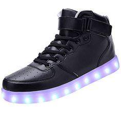 [Present:kleines Handtuch]High Top mit Velcro Schwarz 37 EU Unisex-Erwachsene Schuhe Damen 7 weise Sneaker Herren Farbe für Turnschuhe Aufladen Sport Sportsc LXUBTZIQ