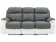 canapé fixe 3 places nina coloris gris clair - pas cher ? c'est