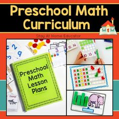 This Preschool Math Curriculum is designed to teach your preschooler all five disciplines of math without the boring worksheets! Children enjoy a variety of daily math activities in addition to 72 individual, hands-on and playful math centers! Preschool Lesson Plans, Preschool Curriculum, Preschool Math, Fun Math, Math Games, Math Activities, Preschool Planner, Homeschooling, Math Lessons