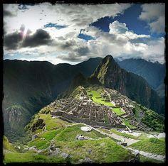 Panorama of Machu Picchu in Peru