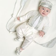 Infant Boy 3 Piece Suit - Cooper Christening/Baptism Collection - Fancy Gowns & Suits