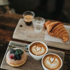 Because food should be beautiful. Come in and try our beautiful baked goods- pai. by CAFE BAKERY Coffee Cafe, Coffee Drinks, Coffee Shops, But First Coffee, Best Coffee, Barista, Coffee Break, Croissant, Baked Goods