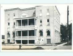 Pre 1950 Rppc Piper Hotel In Manton Michigan Mi By Cadillac V1703