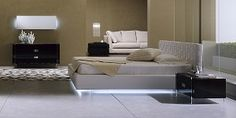Luxor Italian Bed: King Size--cool underbed lighting