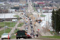 2011 Flood - 18th Street North heading south to the river, Brandon, Manitoba