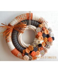 Triple Wrapped Fall Wreath | CraftOutlet.com Photo Contest Winner by Wreaths by Emma Ruth