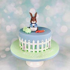Peter rabbit cake, beatrixpotter handmade decoration in fondant #københavn #flottekage  www.bakemydaydk.com