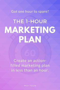 GOT ONE HOUR TO SPARE? The 1-Hour Marketing Plan is designed to help you gain focus and clarity, eliminate marketing overwhelm, and put an action plan in place, all in less than an hour! #onlinemarketing Get One, Online Marketing, Marketing Plan Template, How To Plan, Clarity, Gain, Online Business, Action, Tips