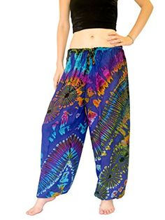 Orient Trail Womens Yoga Pajama Tiedye Hippie Pants ML Deep Blue *** Click on the image for additional details.(This is an Amazon affiliate link and I receive a commission for the sales)