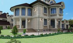 фасад - миниатюра 6 Mansions, House Styles, Villa, Projects, Home Decor, Mansion Houses, Log Projects, Homemade Home Decor, Manor Houses