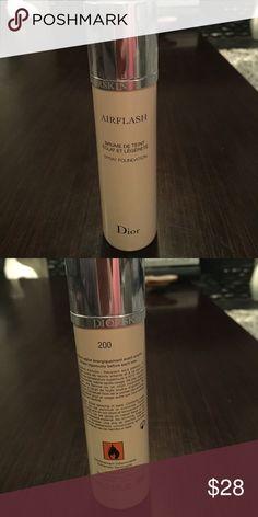 Dior Airflash in shade 200 Airflash by Dior spray foundation 2.3 fl oz more than 1/2 full Dior Makeup Foundation