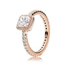 PANDORA Rose Timeless Elegance Ring, Clear Cubic Zirconia - Item 180947CZ | REEDS Jewelers