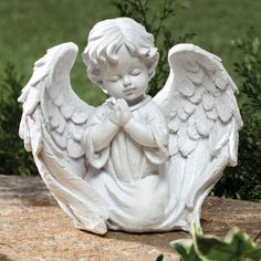 NEW ~ Cherub Garden Statue Praying Angel Wings Decor Outdoor Yard White Angel Wings Decor, Angel Decor, Angel Art, Art Sculpture, Sculptures, Statue Ange, Cherub Tattoo, Little Cherubs, Garden Angels