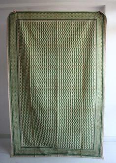 Handblock Blanket - Twin Hand Stitched & Hand Printed