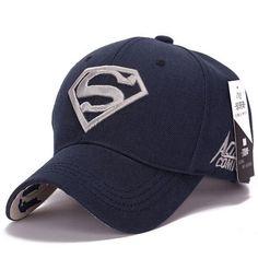 7b491de8242 2015 Brand Superman Baseball Cap Unisex Adjustable Cotton Snapback Caps Men  Sport Hats for Women Outdoor