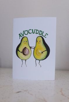 And I love this!! Cute Valentine's card Avocuddle by kittenese on Etsy, $5.00