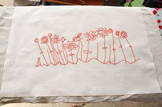 Christmas tea towels - great for gifts for grandparents and other people...