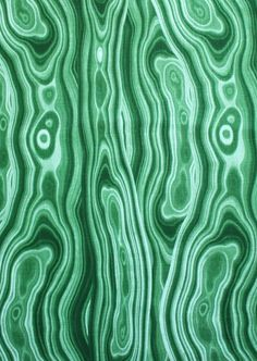 This lux print of the Malachite stone is rich with tones of emerald green. Suitable for curtains, drapery, roman shades, decorative pillows, light to medium uph Textures Patterns, Print Patterns, Eclectic Fabric, Minerals And Gemstones, Home Decor Fabric, Green Fabric, Malachite, Soft Furnishings, Fabric Design