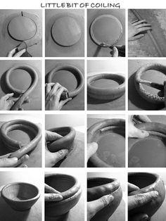 Katarina Bobic's Coiled Pottery: Hand-building pottery using clay coils.
