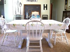 painted dining tables & chairs