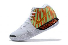 11220ad13868 Advanced Nike Kyrie 4 White Volt Yellow Gold Men s Basketball Shoes Kyrie  Irving Basketball Shoes