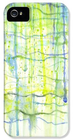 """This iPhone is based on one of my original abstract watercolor paintings called, """"Electric Rain"""" :) http://kristen-fox.artistwebsites.com/products/electric-rain-watercolor-kristen-fox-iphone5-case-cover.html"""
