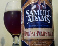 Samuel Adams Harvest Pumpkin Ale.....It's that time of year and here is Sam's seasonal offering! #Beer
