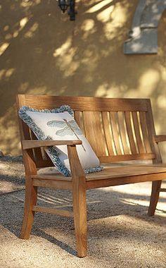 Banco exterior de jardin de madera de 1 50 de largo for Google banco exterior