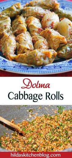"""Step by step recipe for vegetarian cabbage rolls, called """"dolma"""" in Assyrian. Vegetarian Cabbage Rolls, Vegetarian Lunch, Cabbage Recipes, Vegetarian Recipes, Cooking Recipes, Healthy Recipes, Armenian Recipes, Lebanese Recipes, Turkish Recipes"""