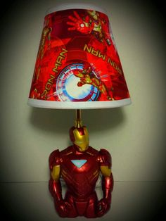 "NEW! Marvel Avengers Iron Man Lamp and Lampshade! 17"" Tall on ebay $99"